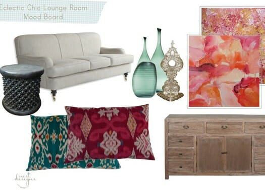 Eclectic chic lounge room