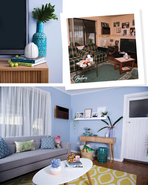 1 adore home magazine the home makeover australia's ugliest living room renovation styling bright living space modern