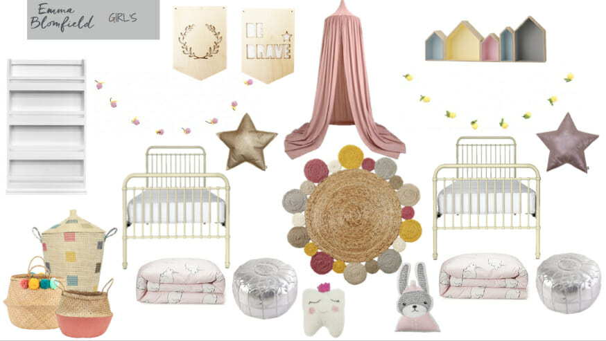 Girls Bedroom eDecorating Mood Board by Emma Blomfield