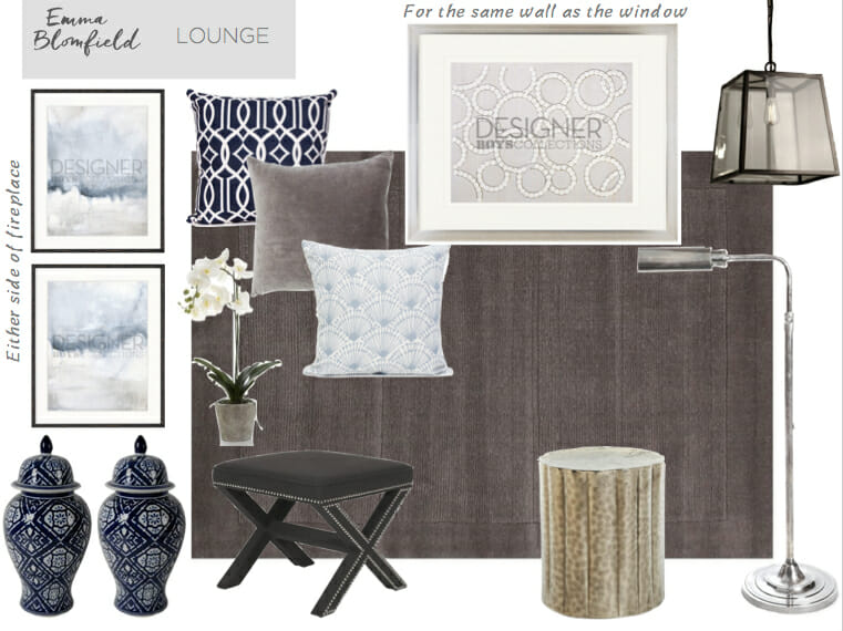 Living Room eDecorating Mood Board by Emma Blomfield