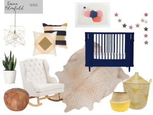 Baby Girl Nursery eDecorating Mood Board