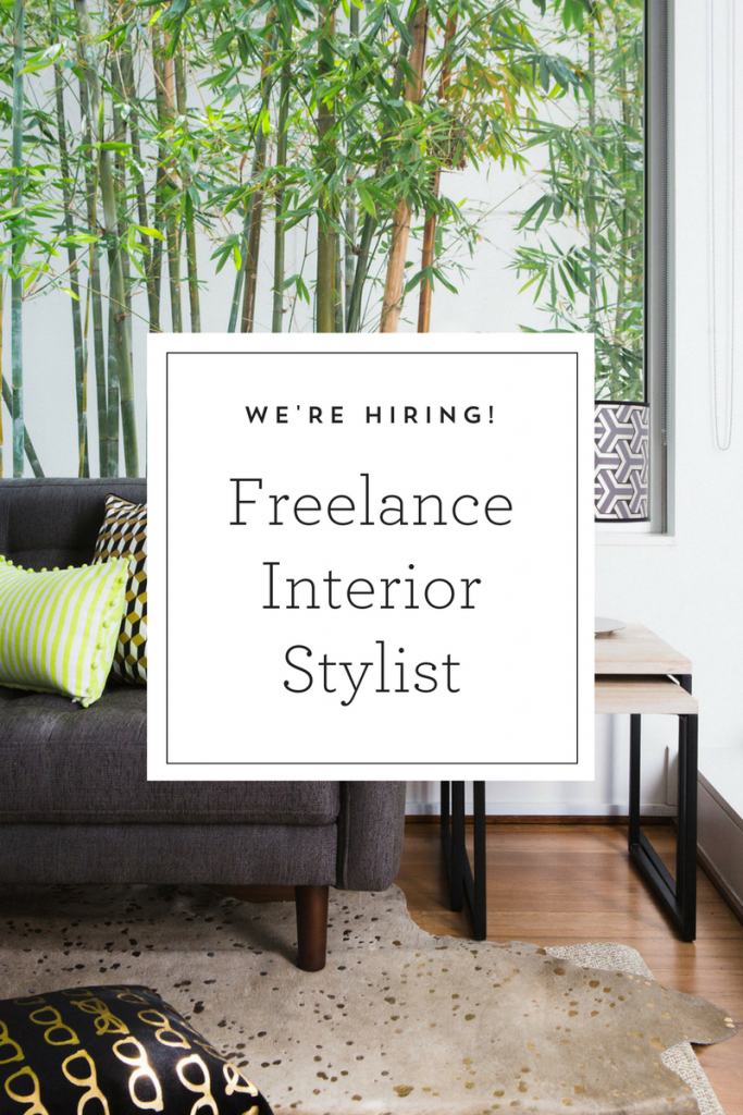 Job Vacancy Interior Stylist Sydney